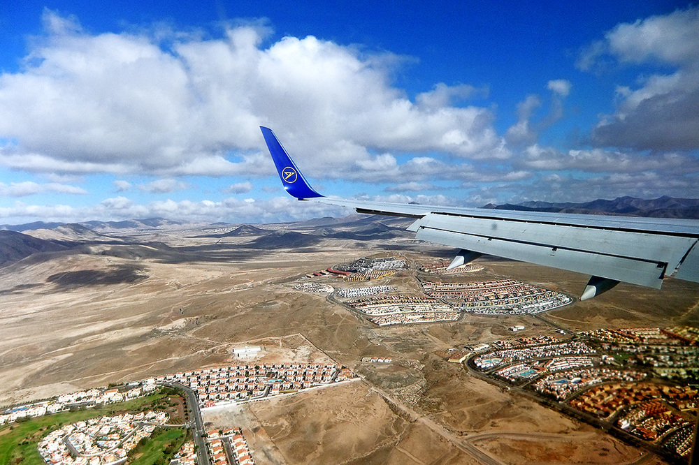 Anflug auf Fuerteventura...