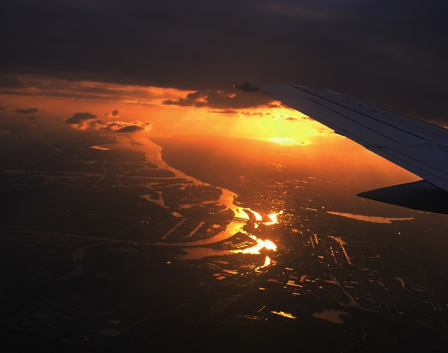 Anflug auf Hamburg