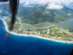 Anflug auf Huahine