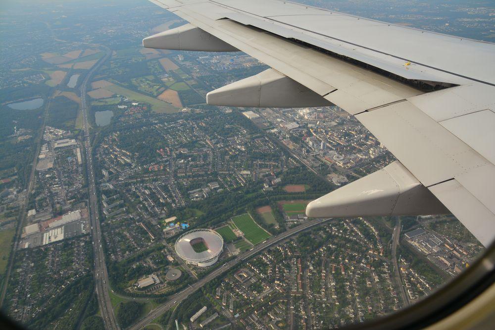 Anflug auf Köln