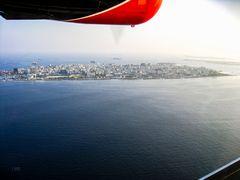 Anflug auf Malé