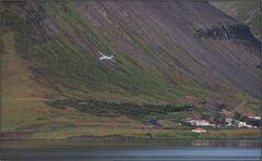 Anflug auf Ísafjörður