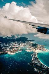 Anflug auf Sint Maarten