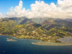 Anflug auf Tahiti Nui