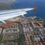 Anflug auf Tenerife Sur Reina Sofía, TFS, 08