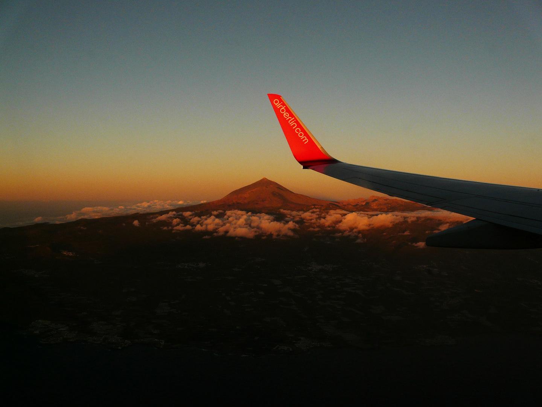 Anflug auf Teneriffa