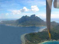 Anflug Bora Bora