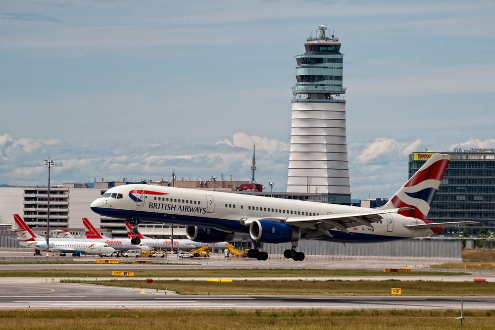 Anflug British Airways