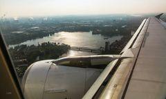 Anflug über die Havel