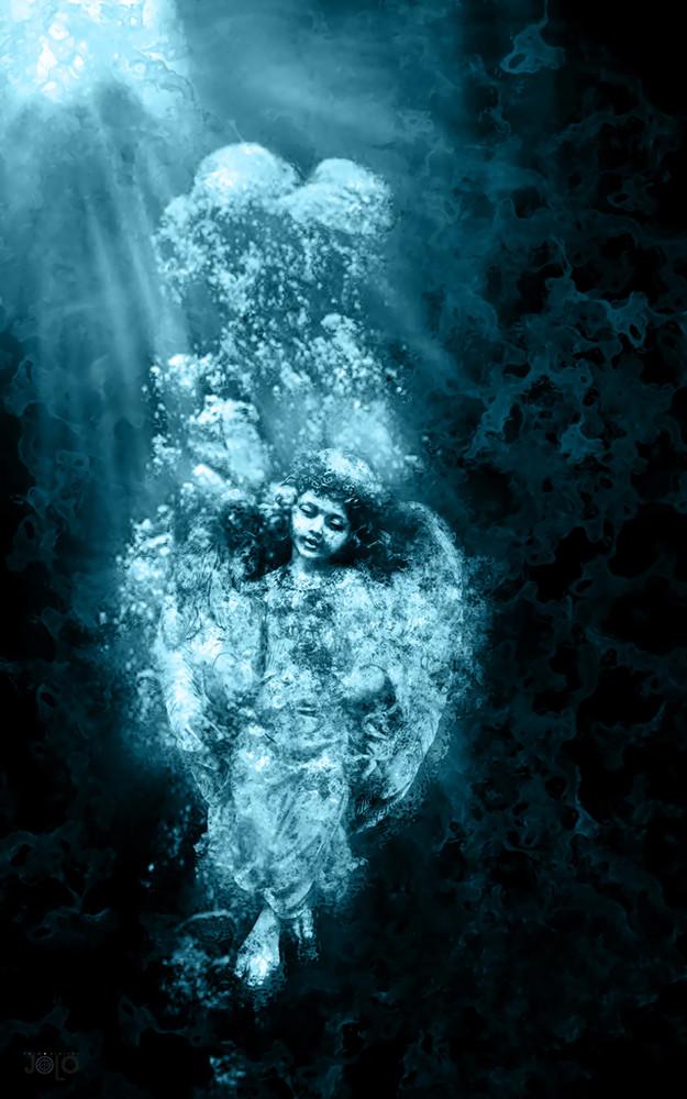 angel en el agua