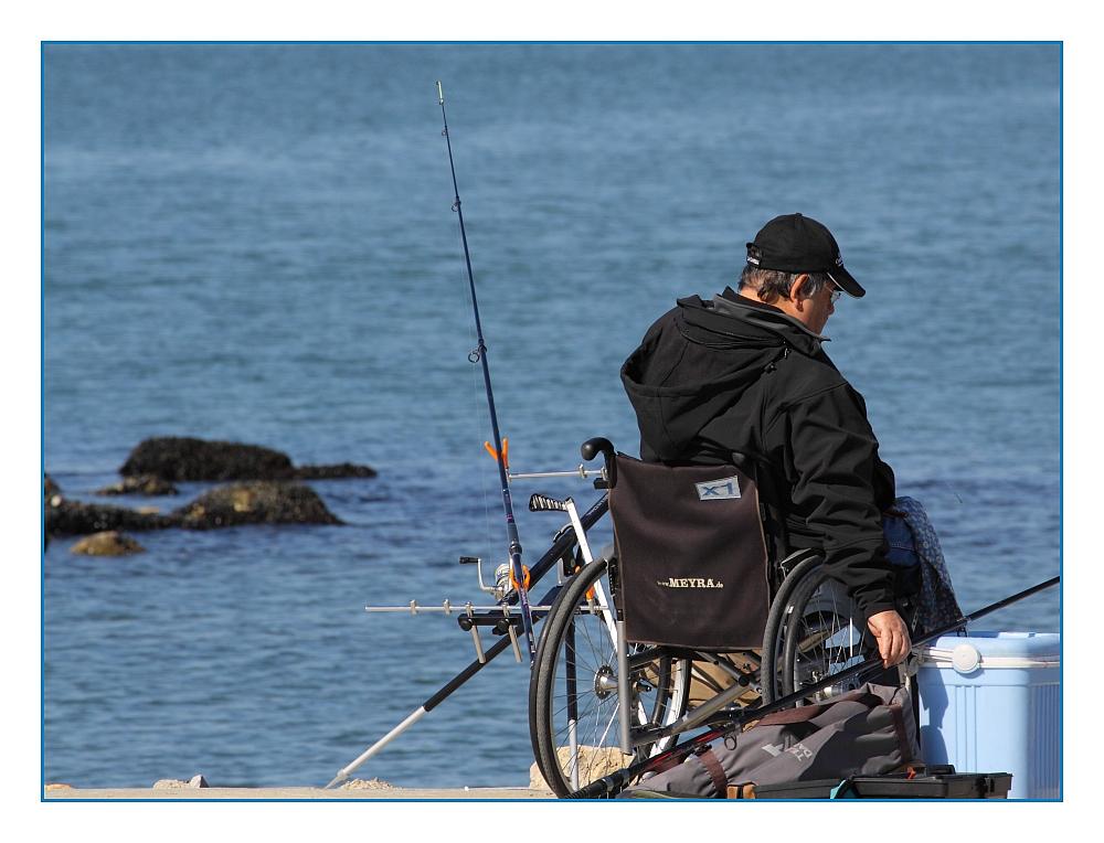 ... Angel-Spaß - trotz Handicap ... / ... Amusant de pêche - malgré de handicap ...