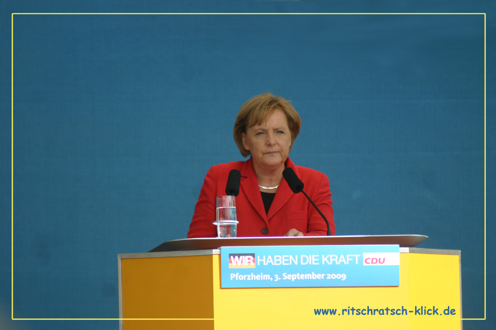 Angela Merkel in Pforzheim
