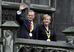 Angela Merkel und Donald Tusk
