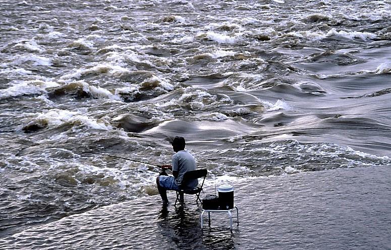 Angeln am Mississippi ( St.Louis ) 1995
