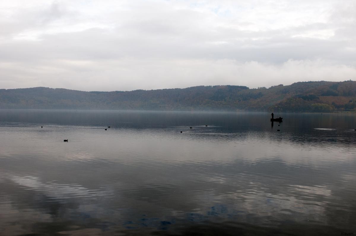 Angeln auf dem Laacher See...