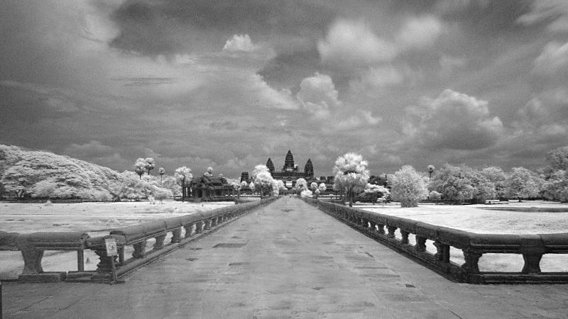 Angkor Wat Infrarot
