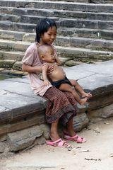 Angkor-Wat - Kinder in den Tempelanlagen