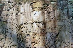 Angkor-Wat - Kriegsszene an der Tempelmauer