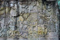 Angkor-Wat - Kriegsszenen auf der Tempelmauer