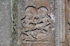 Angkor-Wat - Liebes-Szene auf der Tempelmauer