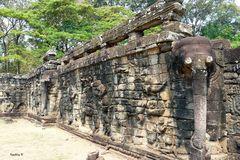 Angkor-Wat - Tempelmauer