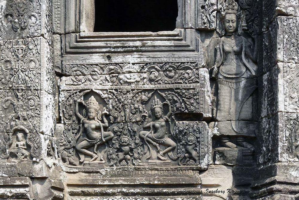 Angkor-Wat - Tempelwand