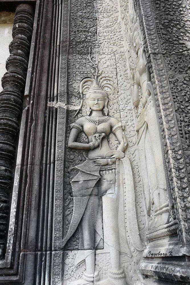 Angkor-Wat -Tempelwand