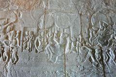 Angkor-Wat- Tempelwand