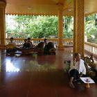Angkor Watt -  Musikgruppe im Kloster