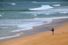 Angler am Keurbooms Strand