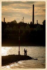 Anglerromantik am Rhein