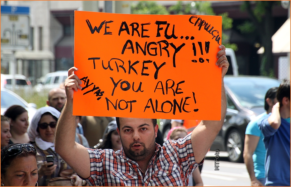 ANGRY NOT ALONE in ISTANBUL Plakat Stuttgart 8.6.13