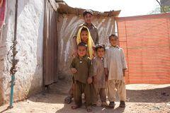 Angst im Gesicht - Slum in Islamabad
