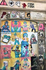 Anima cartoon in via della Lungaretta