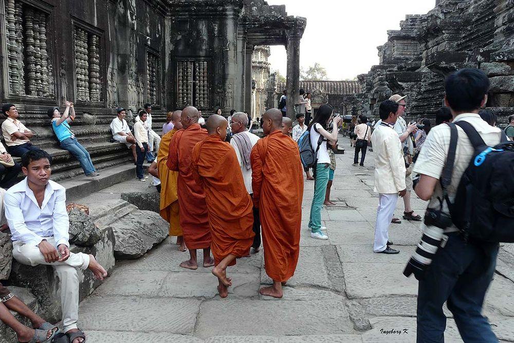 Ankor-Wat -Tempelbesucher