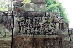Ankor-Wat - Tempelwand