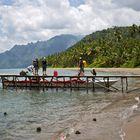 Ankunft am Mainland Insel Seram
