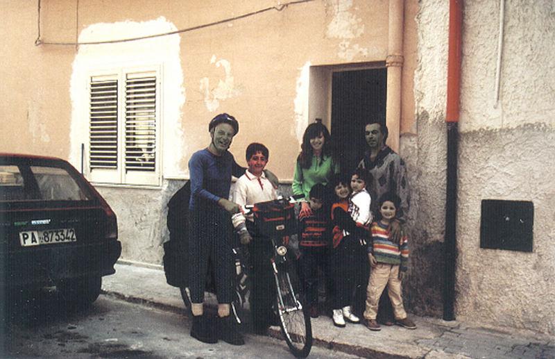 Ankunft bei meinem Freund Giuseppe Storaci und seiner Familie in Cinisi