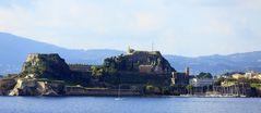 Ankunft im Hafen Korfu