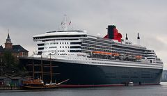 Ankunft in Oslo - Queen Mary 2