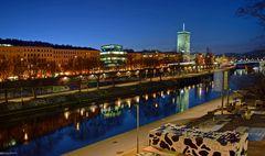 Ankunft in Wien zur blauen Stunde