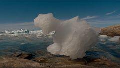 anlandendes gletschereis