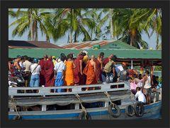 Anlegen bei der Bilu Kyun Island