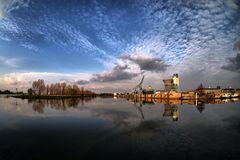 Anlegesteg / Hafen an der Maas in Roermond /NL