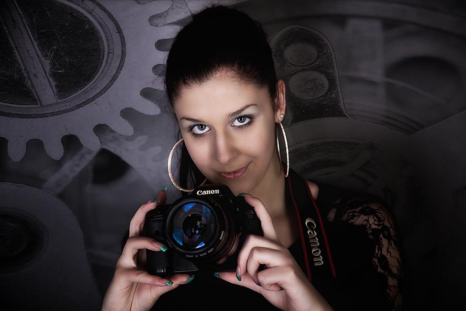Anna mit Kamera