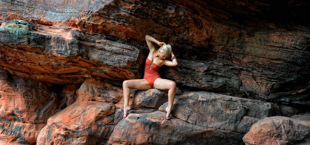 anna on the rocks