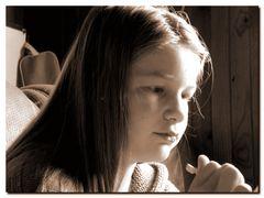 Annabelle concentrée .............