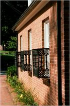Annapolis No.20 - Warm Brick and Ironwork in Late Afternoon Sun