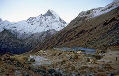 Annapurna Base Camp (4130 m) und Machhapuchre (6997 m)