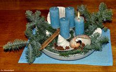 Anne Küste ist vieles blau :-) Einen schönen 1ten Advent